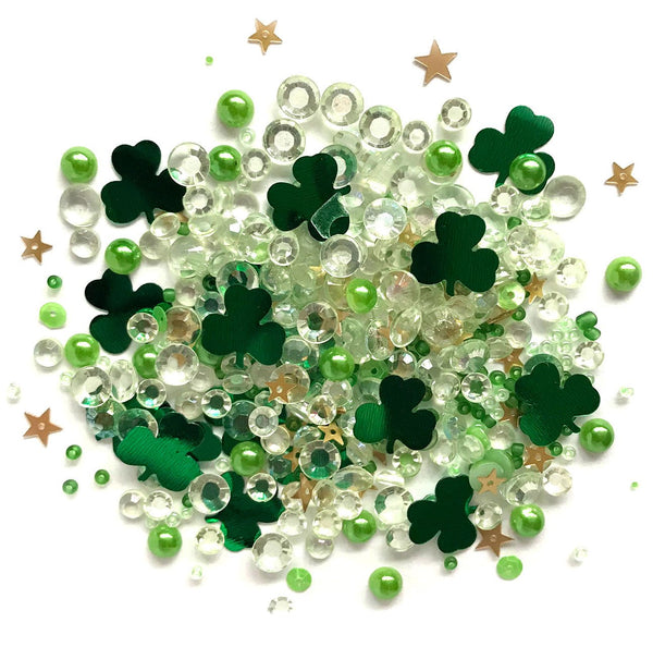 Sparklets St patricks Day Shamrock Embellishment Gems Sequins