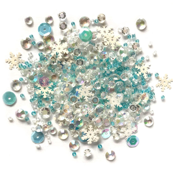 Snow Crystals Sparkletz Sequin Gemstones