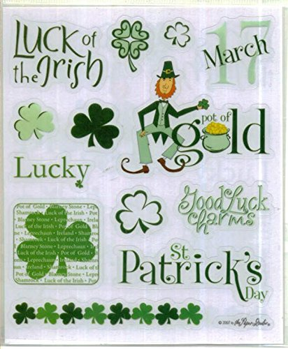 St Patricks Day Word Stickers Set