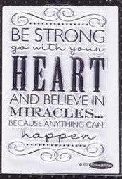 Stampabilities Clear Stamps - Be Strong Miracles