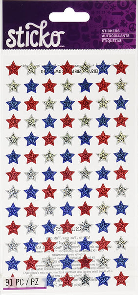 Sticko 4th of July Red White Blue Stars
