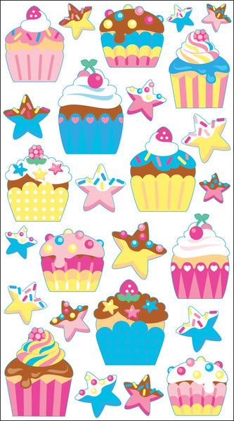 Birthday Cupcakes Stickers by Sticko