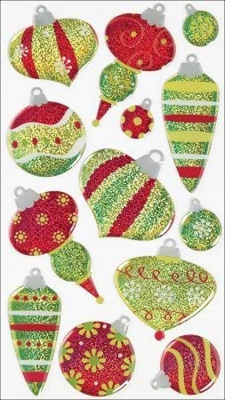 Christmas Ornaments Sparkler Sticko Stickers
