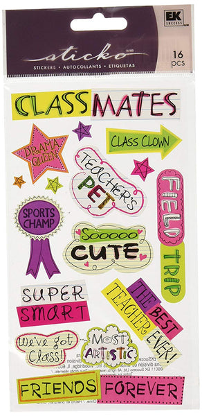Classmates School Scrapbook Stickers by Sticko