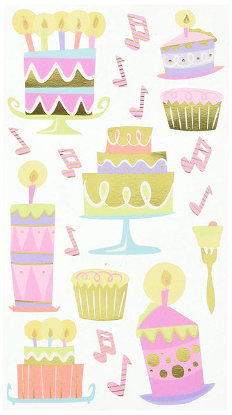 Patty Cakes Birthday Scrapbook Stickers