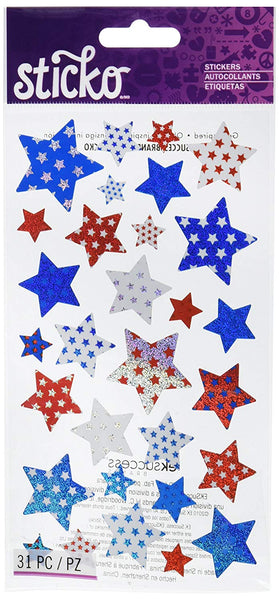 Red White Blue Star Stickers by Sticko