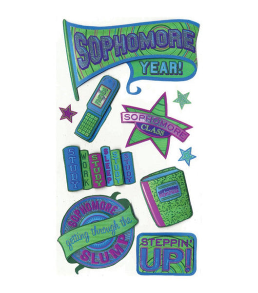 Sophomore Year High School Scrapbook Stickers