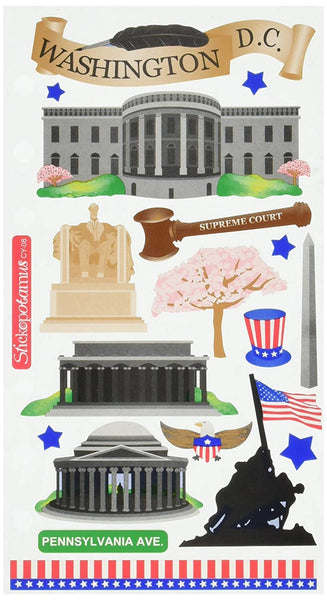 Washington DC Stickers Travel Scrapbook