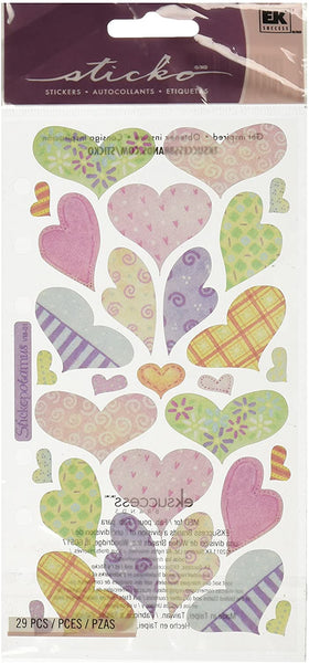 Sticko Pastel Heart Stickers