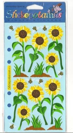 Sunflower Stickers by Stickopotamus