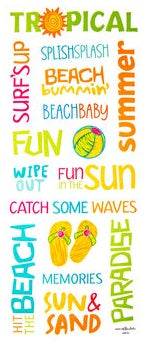 Summer Word Stickers Summer Scrapbook Stickers