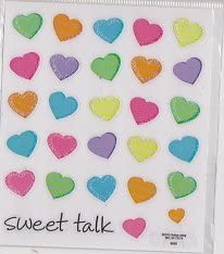 Sweet Talk Pastel Heart Stickers