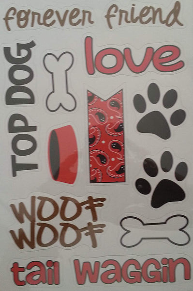 Top Dog Chipboard Stickers by Queen & Co
