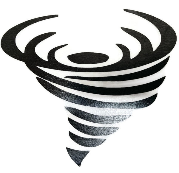 Black Tornado Vinyl Decal Sticker