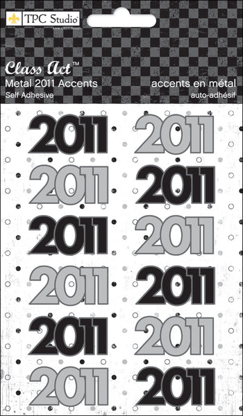2011 Metal Accent Stickers by TPC