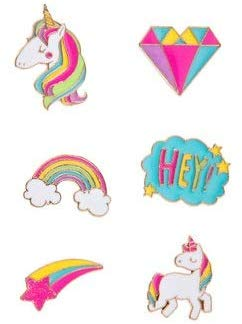 Unicorn Enamel Stickers