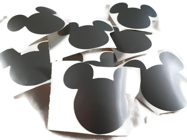 Mickey Mouse Head Decals Silver Stickers
