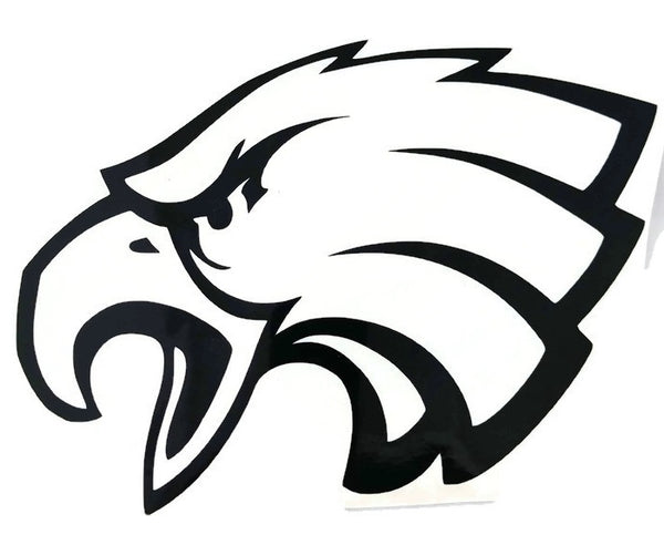 Eagle Decal Vinyl Decal Black 4x6""