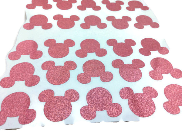 Pink Mickey Mouse Holographic Stickers