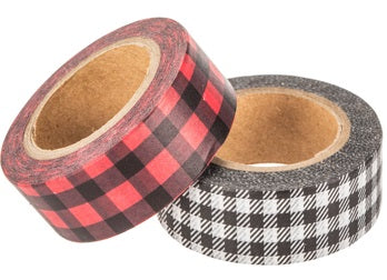 Buffalo Plaid Washi Tape Red Black Plaid