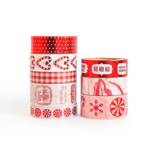 Red Christmas Candy Washi Tape
