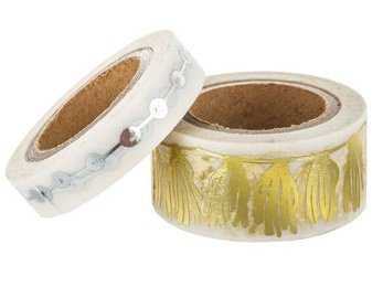 Gold and Silver Foil Tassel Washi Tape