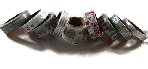 Gray Animals Washi Tape
