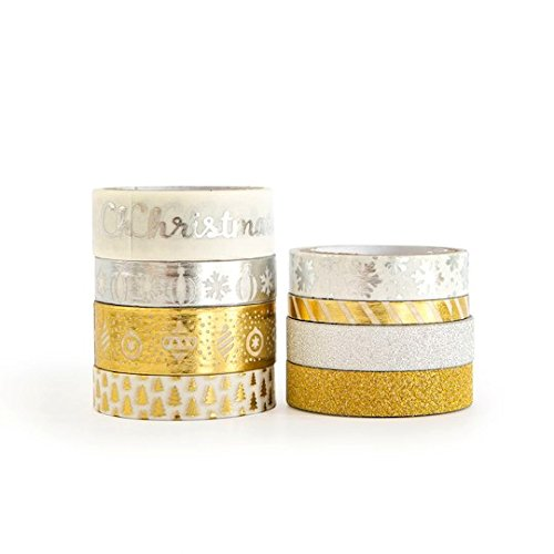 Christmas Washi Tape Gold and Silver
