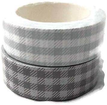 Gray Buffalo Plaid Washi Tape