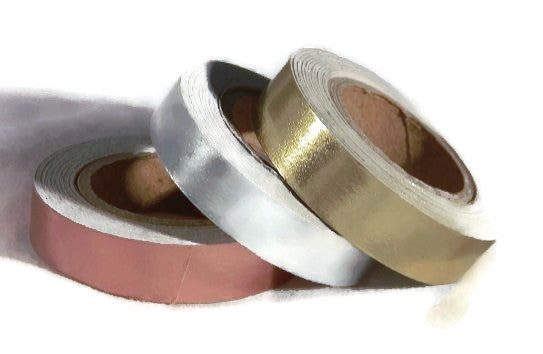 Metallic Foil Washi Tape - Copper Silver Gold