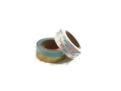 Mint Green Dot Washi Tape