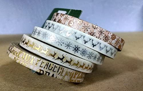 Gold and Silver Christmas Washi Tape