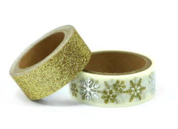 Christmas Gold Snowflake Washi Tape - 2 Spools