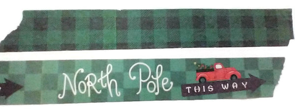 North Pole Buffalo Plaid Washi Tape