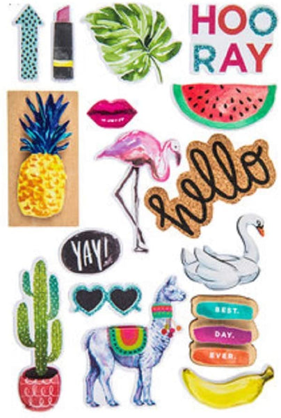 Watercolor Fun 3d Stickers