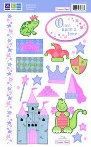 Once Upon a Time Princess Embossed Stickers