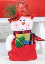 Christmas Snowman Giftcard Holder