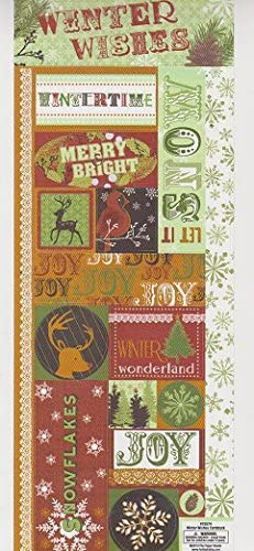 Winter Wishes Christmas Stickers Cardstock