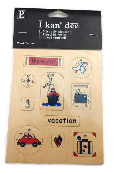 Travel Wood Stickers by Pebbles, Inc