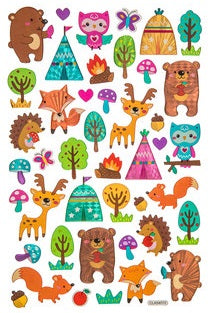 Woodland Animal and Teepee Epoxy and Foil Stickers