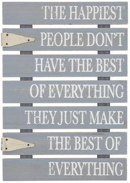 Happiest People On Earth Pallet Sign Decor