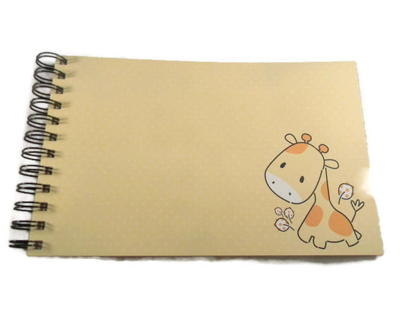 Blank Journal/scrapbook Album - Giraffe Zoo Friends