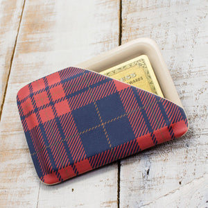 Blue & Red Plaid Slimline Wallet