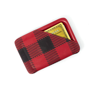 Red Plaid Slimline Wallet-Flashbang Holsters