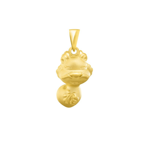 999 Pure Gold Zodiac Buddies Dragon Pendant