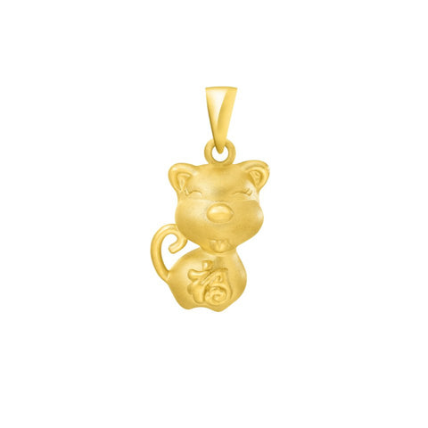 999 Pure Gold Zodiac Buddies Dog Pendant