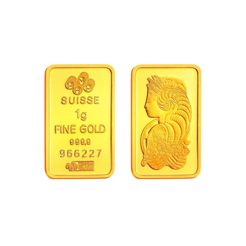 999 Pure Gold PAMP Suisse 1g Gold Bar