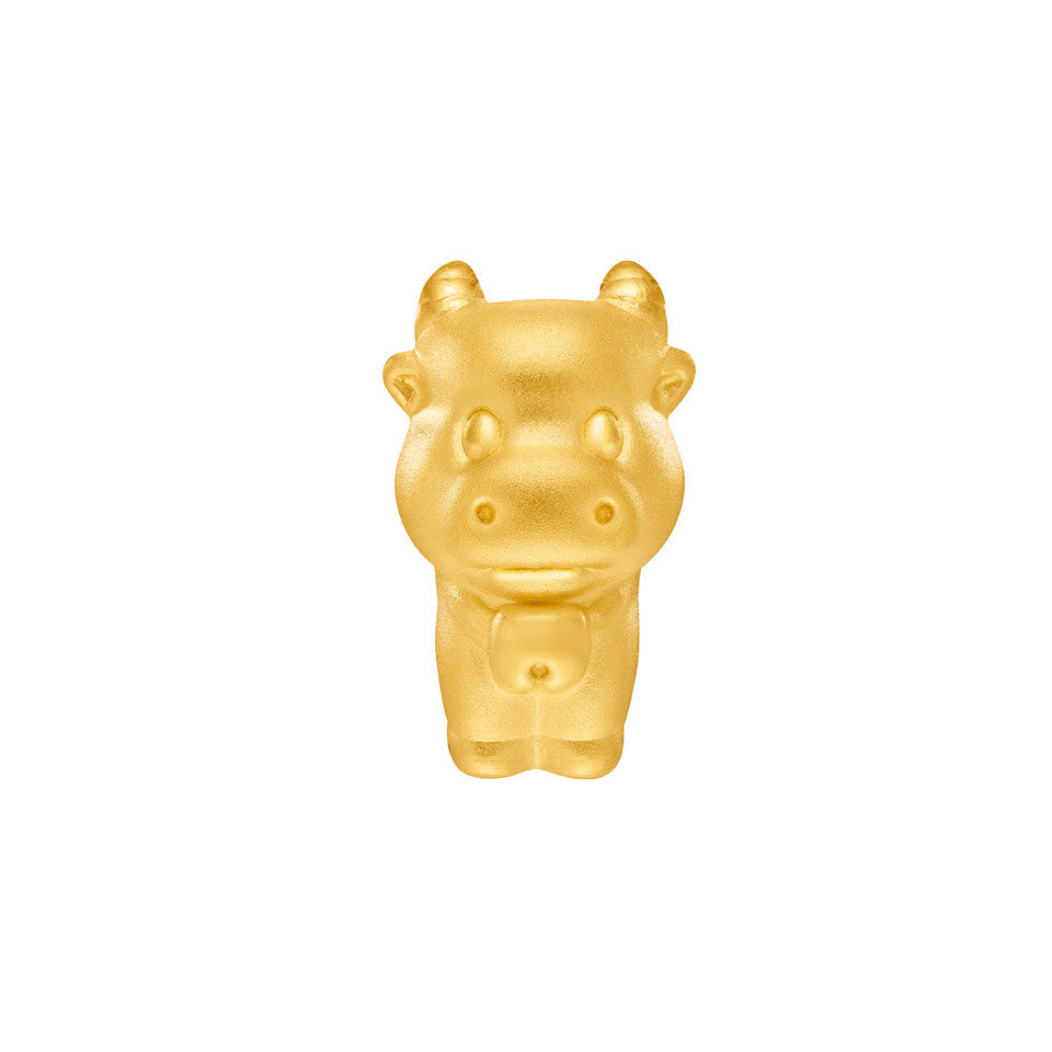 999 Pure Gold Zodiac Friends Ox Charm
