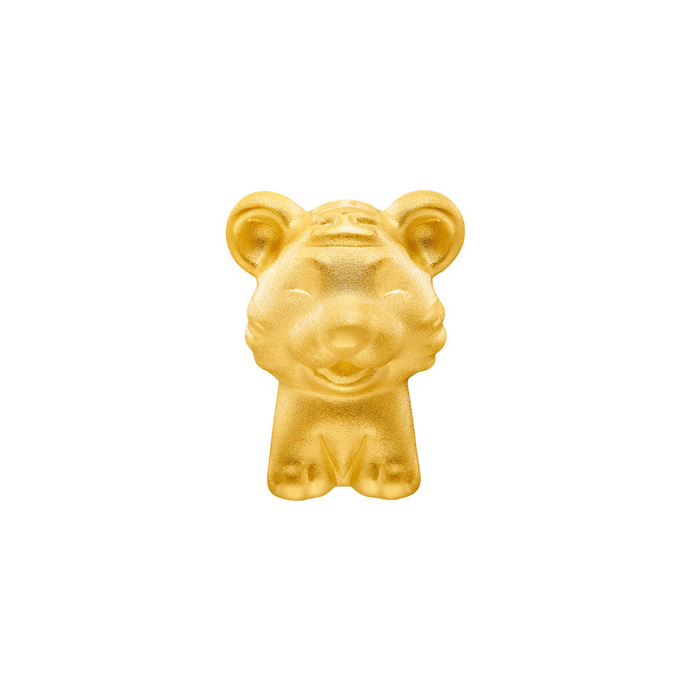 999 Pure Gold Zodiac Friends Tiger Charm