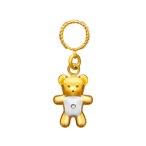 916 Gold My Bestie Teddy Charm